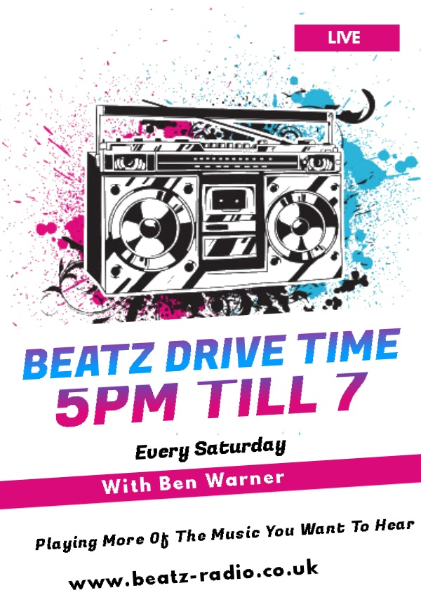 Join Ben Warner every Saturday afternoon from 5pm with Drive time. keeping you moving on the roads